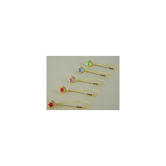 Headscarf needle Rhinestone Heart - Various colors