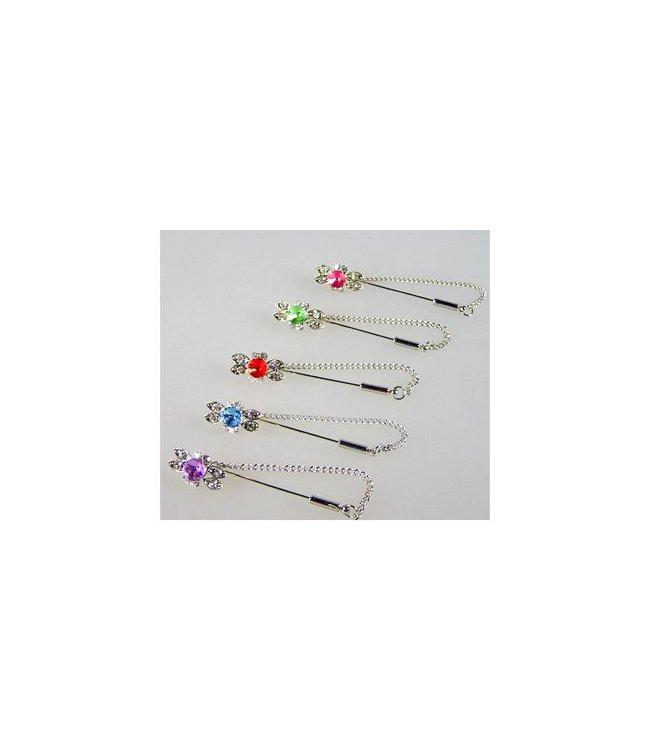 Kopftuchnadel mit Strass - Ring, wählbar in verschiedenen Farben