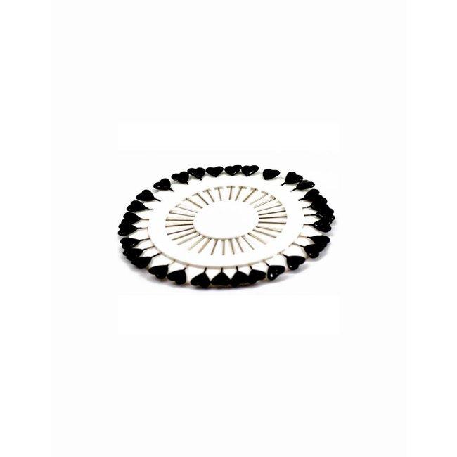 Headscarf needles Heart - Black
