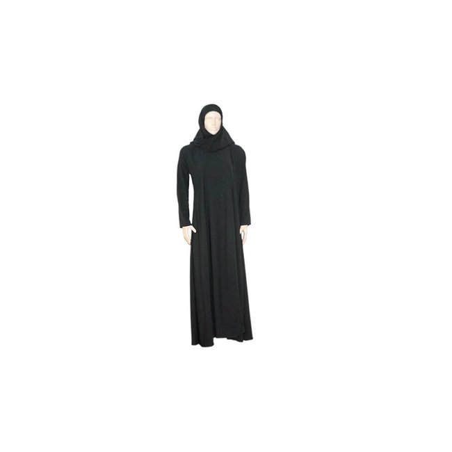 Black Abaya coat in the Saudi style