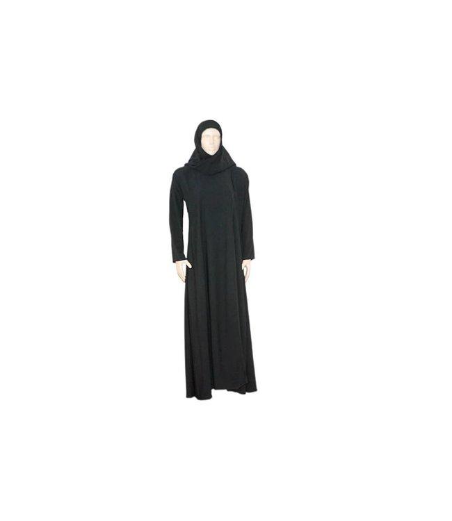 Schwarzer Abaya Mantel im Saudi-Stil