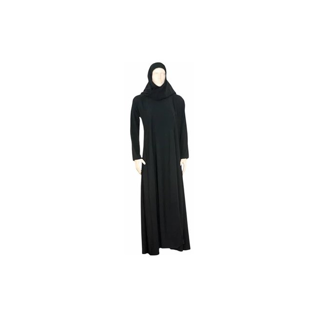 Black Abaya coat with scarf