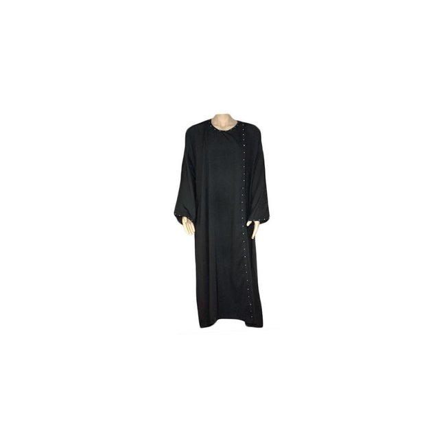 Black Abaya with rhinestone in the Saudi style