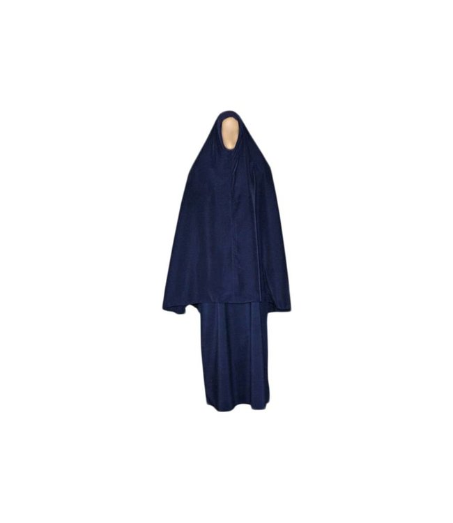 Abaya coat with khimar - Warm Set in Blue
