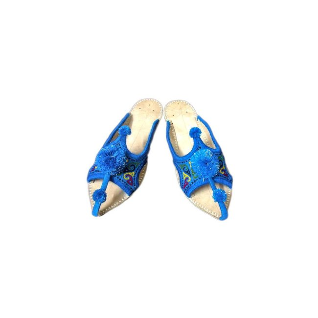 Slip-On shoes with bobbles - Blue