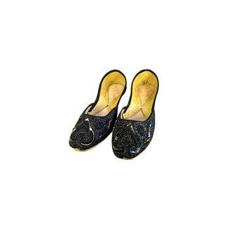 Indische Perlen Ballerinas Schuhe aus Leder - Nousheen