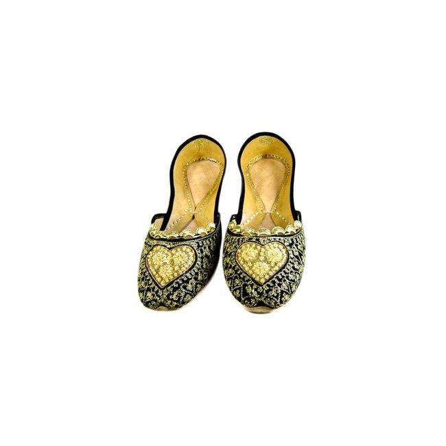 Orientalische, Indische Ballerinas Schuhe aus Leder Malika