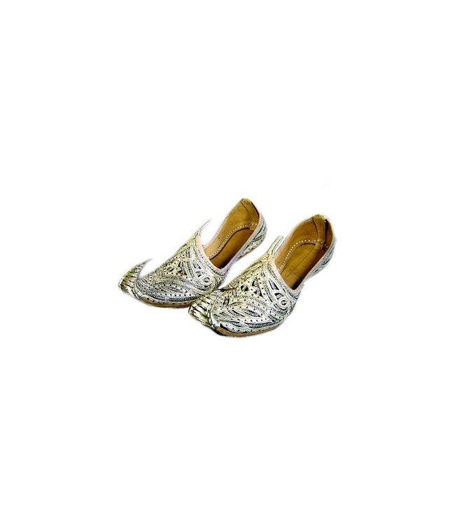 Indische, orientalische Khussa Schuhe Gold-Schwarz