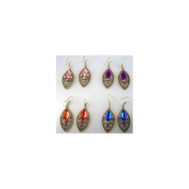Earrings with rhinestones - Kathra