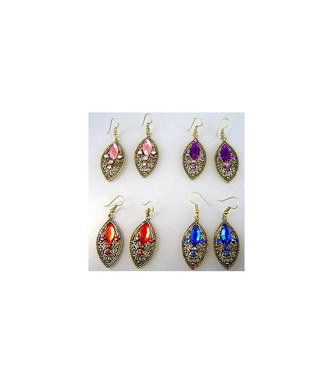 Earrings with rhinestones - Kathra