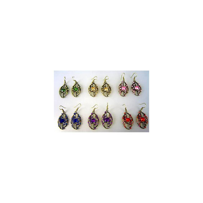 Earrings with rhinestones - Dil