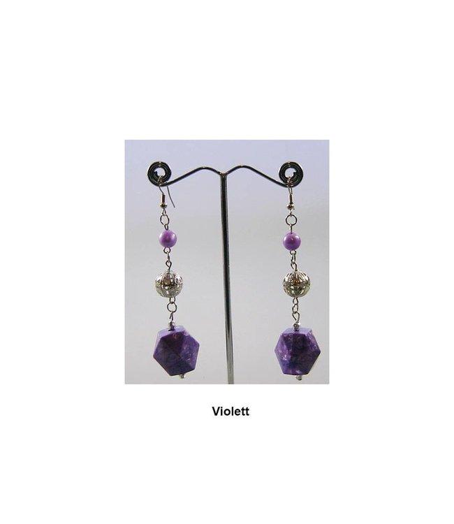Hängeohrringe Perlen - Verschiedene Farben