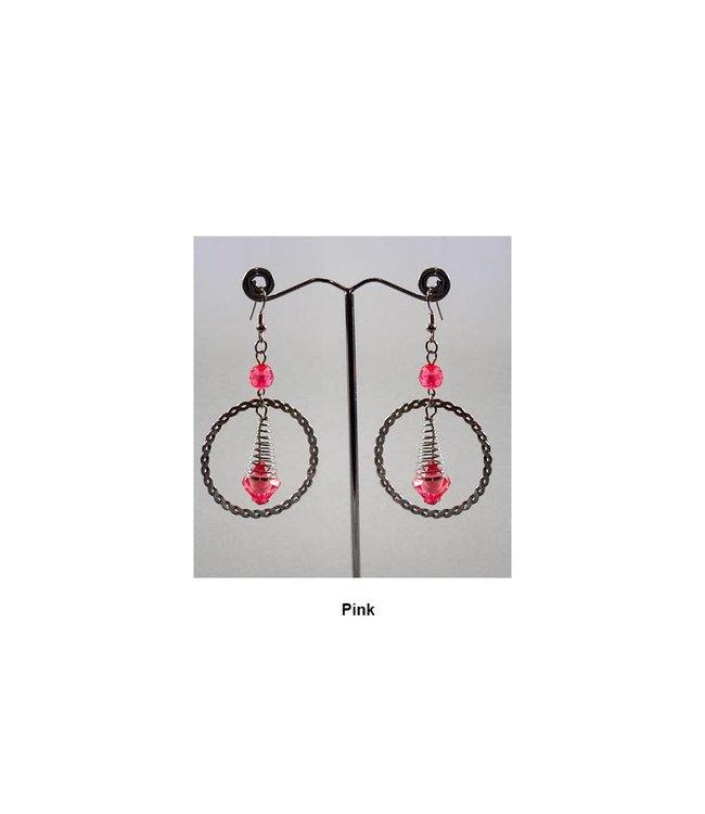 Hoop Earrings Drop Earrings - Various colors