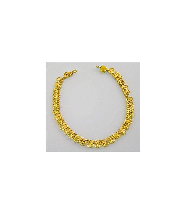 Oriental anklet gold - Heart