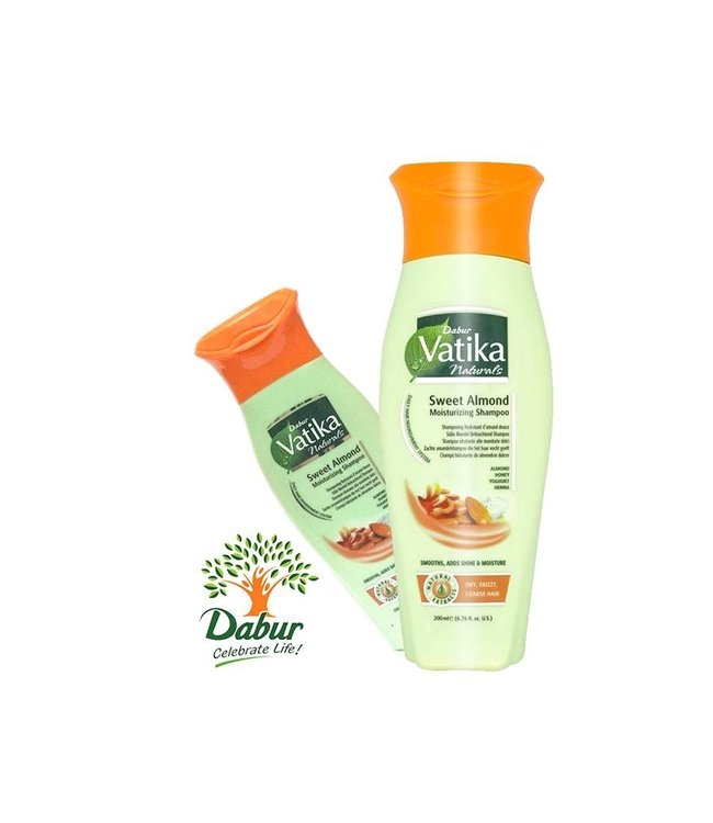 Vatika Dabur Naturals Shampoo - Sweet Almond for more moisture and shine (200ml)
