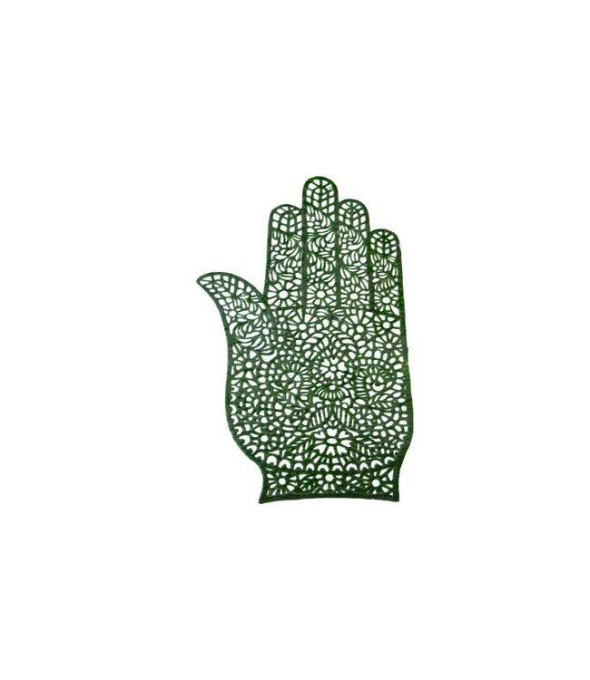 Self Henna Stencil For Tattoos - Hand
