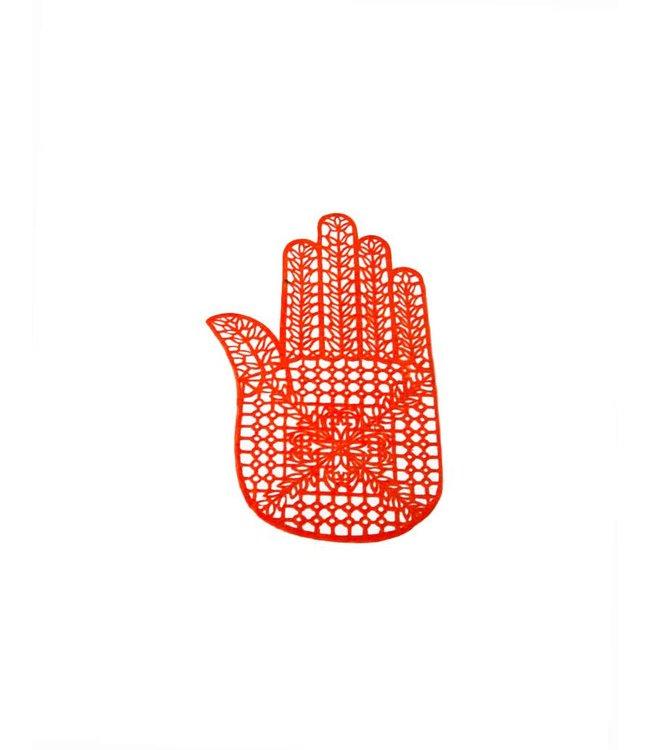 Selbstklebende Hennaschablone Für Tattoos - Hand