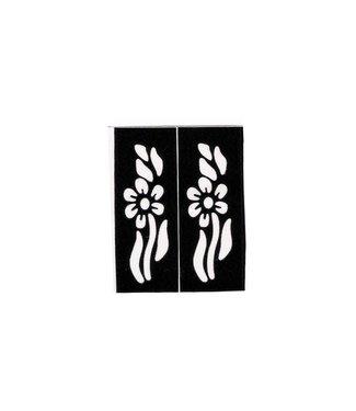 Self-adhesive henna stencils (5cm x 2cm)