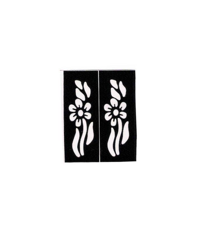 Self-adhesive small Henna stencils tattoos - Two pieces (5cm x 2cm)
