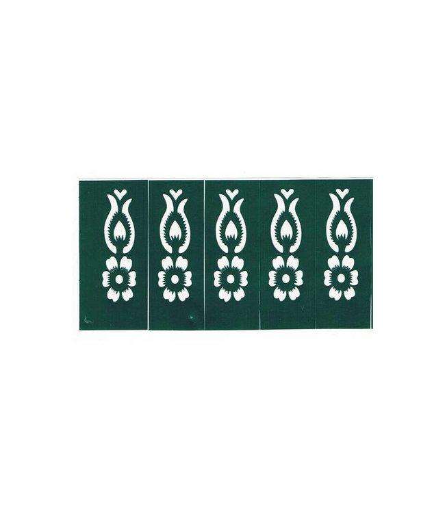 Henna stencils 10 pieces