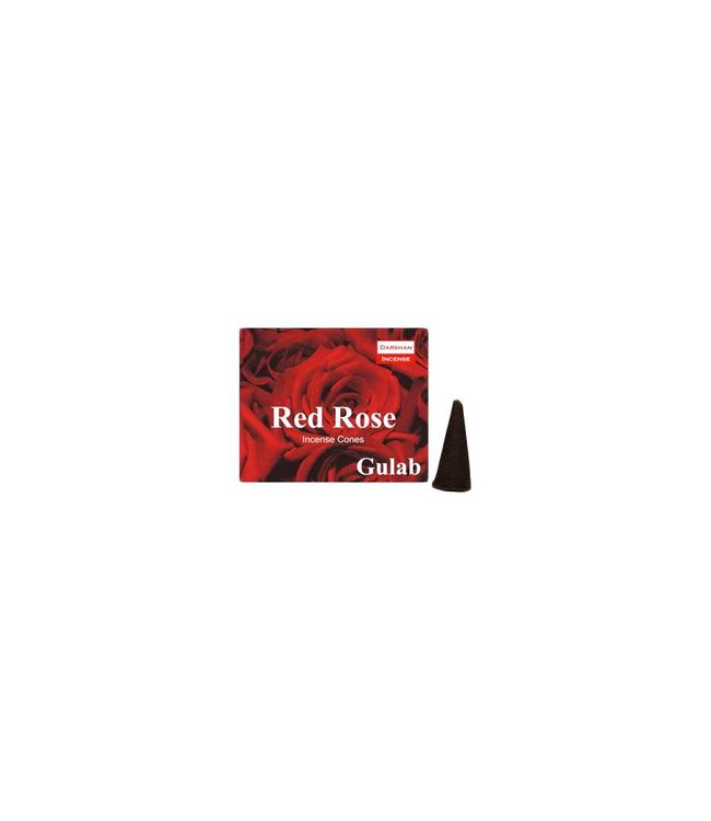 Darshan Incense cones Rose scent with holder (10 piece)