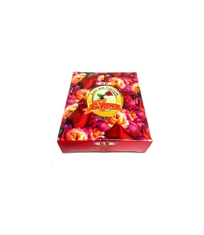 Incense cones Rosebud scent with holder (10 piece)