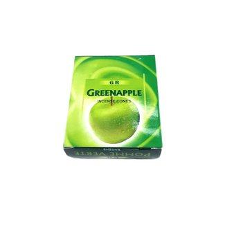 Räucherkegel Grüner Apfel mit Halter (10 Stück)