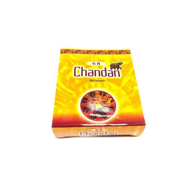 Räucherkegel Chandan mit Halter (10 Stück)