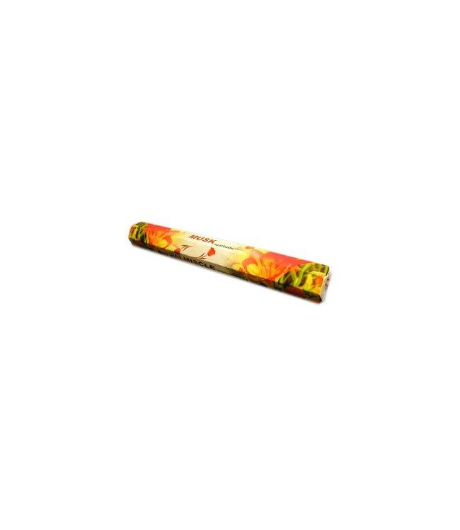 Dhawal Incense Räucherstäbchen Musk mit Moschusduft (20g)