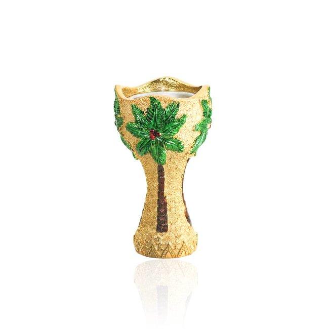 Mubkara - Large Incense Burner gold colour