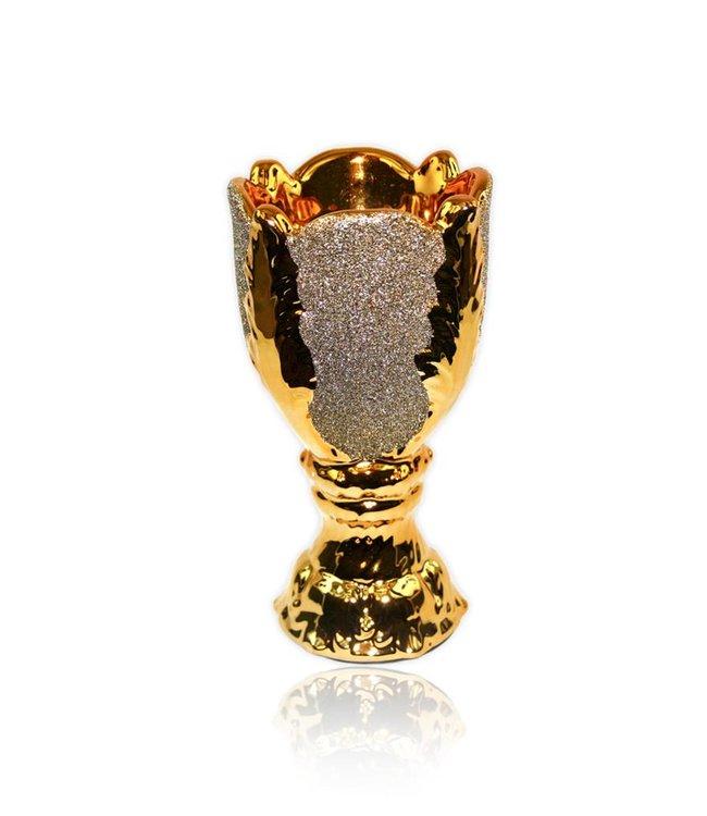 Mubkara - Incense Burner ceramics for Bakhour incense burning Gold Brilliance