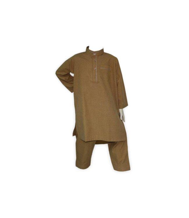 Children salwar kameez in brown for boys