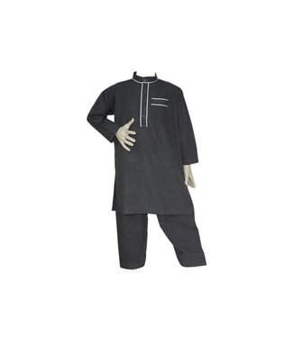 Children Salwar Kameez - Dark Gray