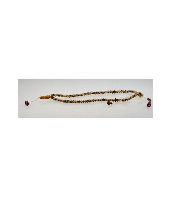 Misbaha Tasbih Prayer Beads - round marbled 31cm