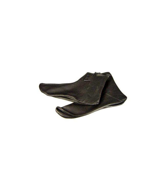Leather socks in black