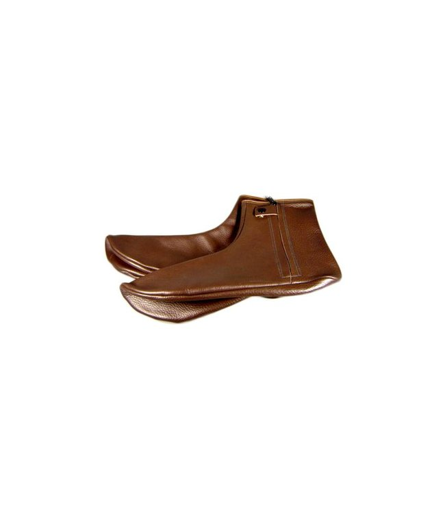 Leather Socks Khuff in Brown