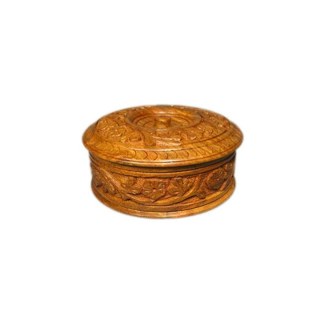 Grosse Holzdose mit Schnitzereien