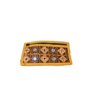Embroidered Belt Bag - Brown