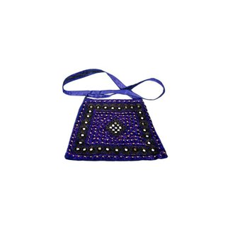 Shoulder bag with mirrors - Blue