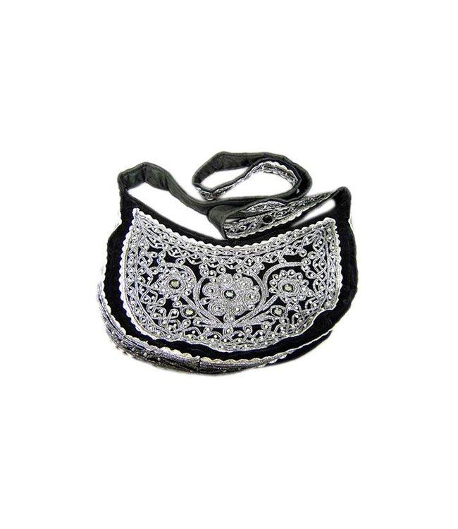 Shoulder Bag with Beads in Black