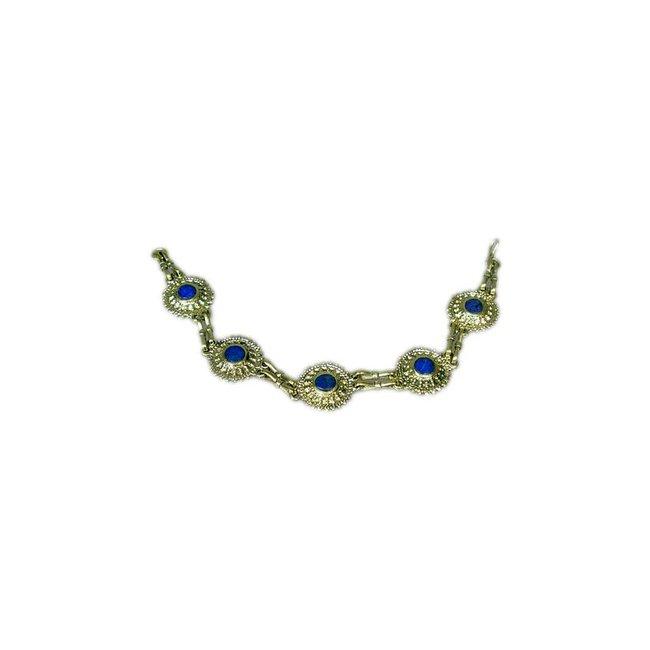 Tribal bracelet lapis lazuli round