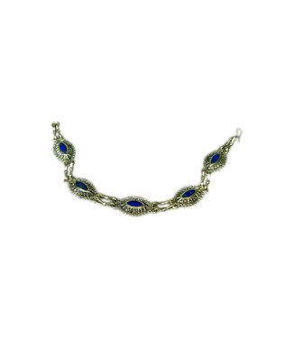 Tribal Bracelet Lapis Lazuli Oval