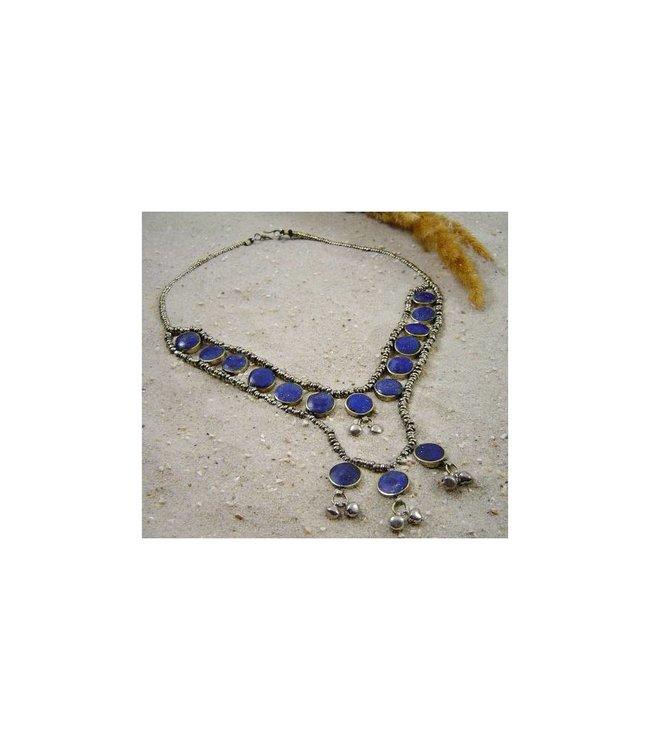 Tribal Necklace with Lapis Lazuli 53cm