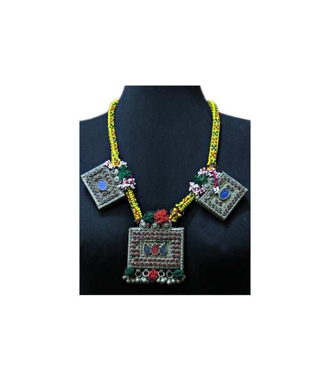 Large Tribal necklace with pendants