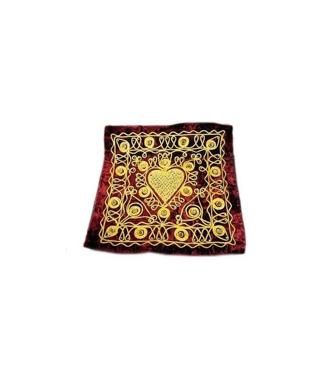 Bestickte Orientalische Kissenhülle in Rot