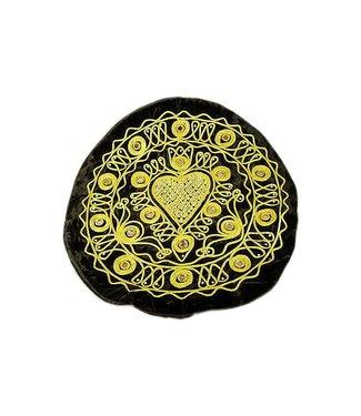 Oriental Cushion Cover Black