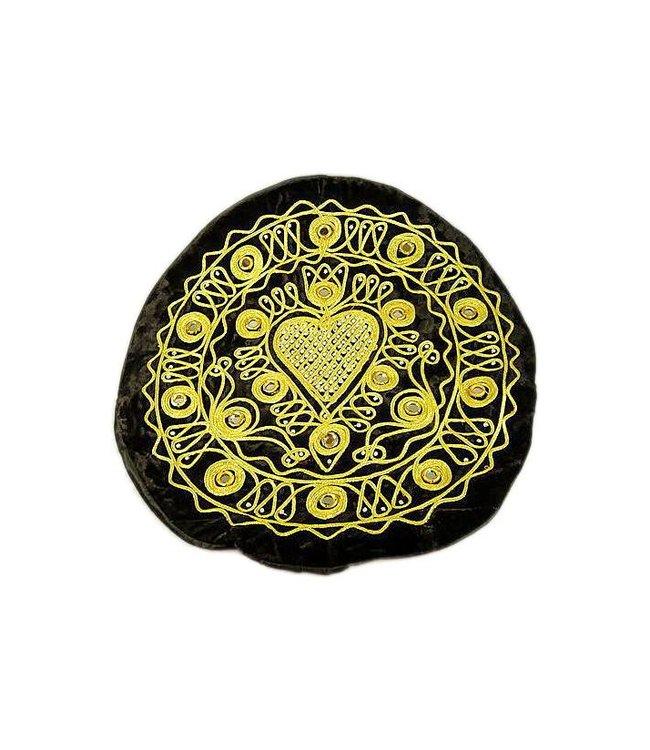 Bestickte Orientalische Kissenhülle in Schwarz