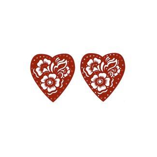 Selbstklebende Hennaschablone - Herz