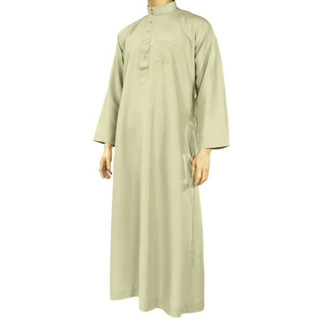 Al Haramain Arabic Galabiya - Light Grey