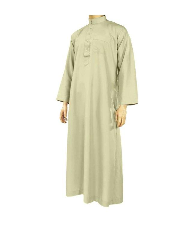 Al Haramain Arabische Jalabiya Djellabia Kaftan Für Männer In Hellgrau